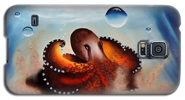 Coconut Octopus Galaxy S5 Case by Dianna Lewis