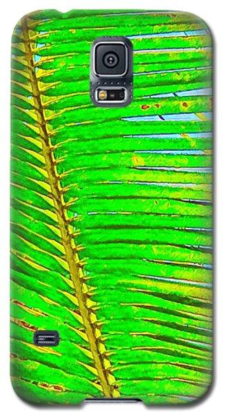 Coconut Palm Leaf Aloha Galaxy S5 Case
