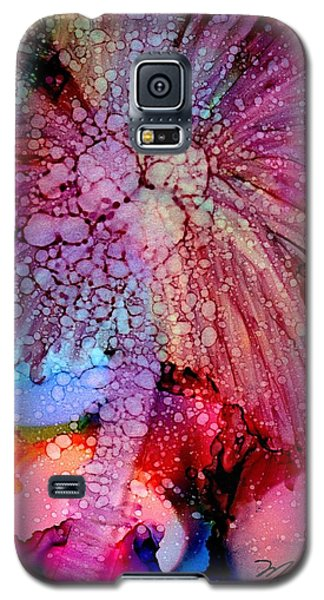 Galaxy S5 Case featuring the painting Coconut Palm Tree 4 by Marionette Taboniar