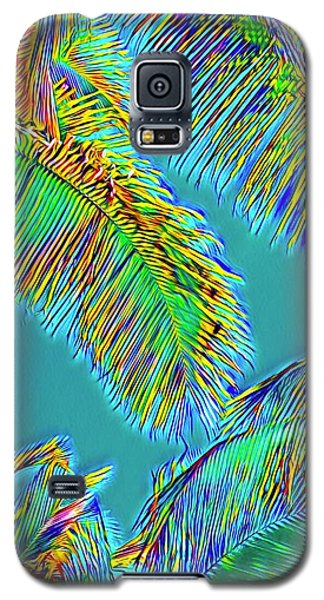 Coconut Palms Psychedelic Galaxy S5 Case