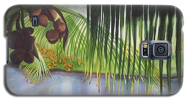 Galaxy S5 Case featuring the painting Coconut Tree by Teresa Beyer