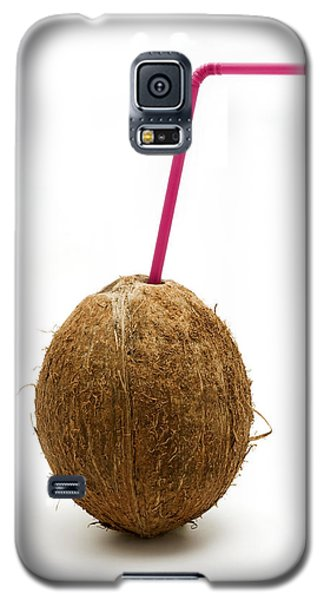 Coconut With A Straw Galaxy S5 Case