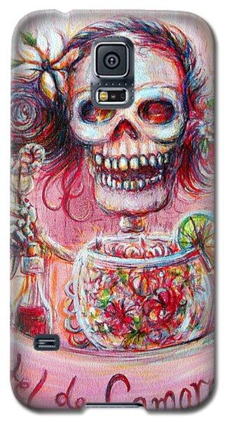 Galaxy S5 Case featuring the painting Coctel De Camarones by Heather Calderon