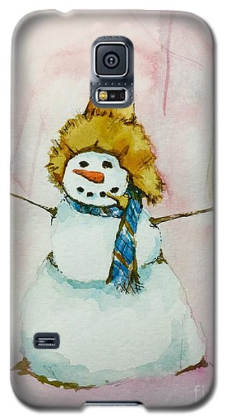 Galaxy S5 Case featuring the painting Cody's First Frosty by Lynn Babineau