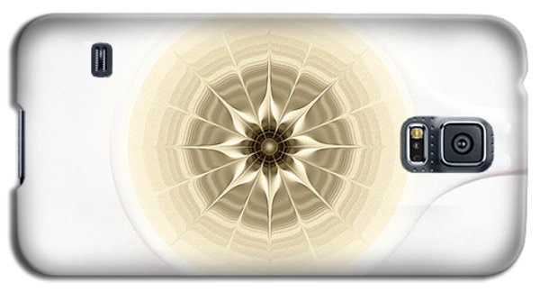 Galaxy S5 Case featuring the digital art Coffe Foam Mandala by Klara Acel