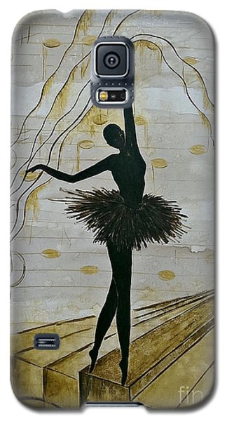 Galaxy S5 Case featuring the painting Coffee Ballerina by AmaS Art