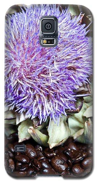 Coffee Beans And Blue Artichoke Galaxy S5 Case