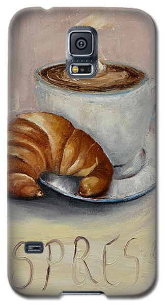 Galaxy S5 Case featuring the painting Coffee Break by Lindsay Frost