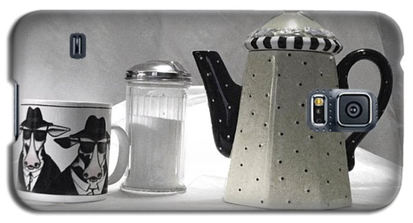 Coffee In Black And White Galaxy S5 Case
