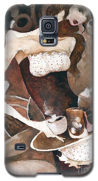 Galaxy S5 Case featuring the painting Coffee Shop by Maya Manolova