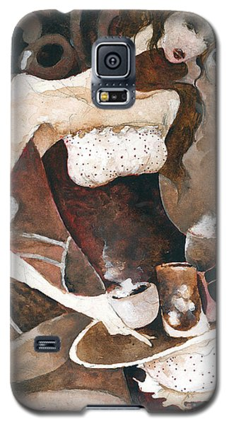 Coffee Shop Galaxy S5 Case by Maya Manolova
