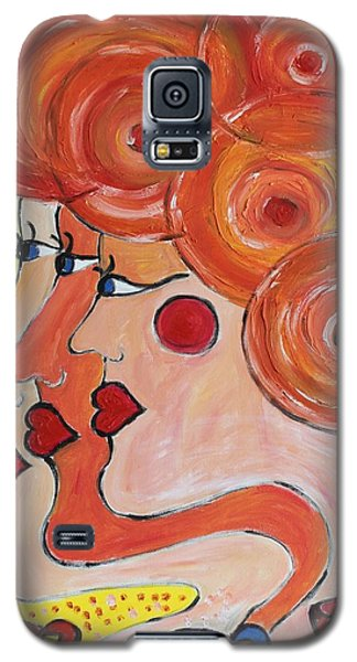 Galaxy S5 Case featuring the painting Coffee Morning by Sladjana Lazarevic