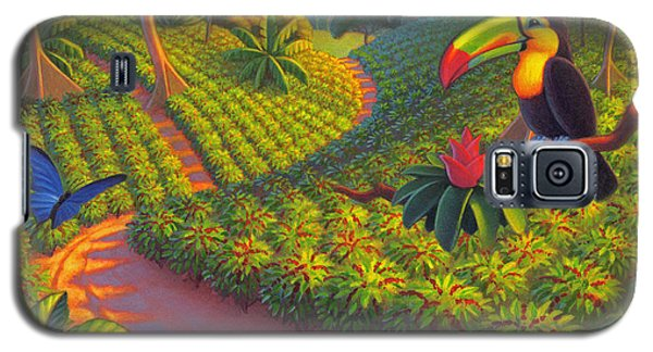 Galaxy S5 Case featuring the painting Coffee Plantation by Robin Moline