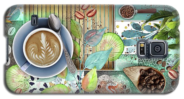 Coffee Shop Collage Galaxy S5 Case