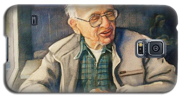 Galaxy S5 Case featuring the painting Coffee With Andy by Marilyn Jacobson