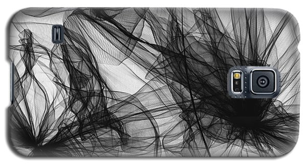 Coherence - Black And White Modern Art Galaxy S5 Case by Lourry Legarde