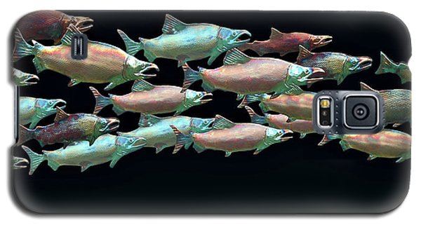 Galaxy S5 Case featuring the photograph Coho Migration by Jeff Burgess