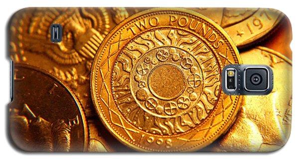 Coins In Macro Galaxy S5 Case