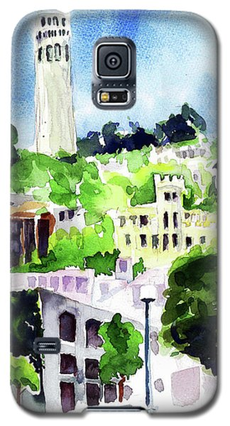 Coit Tower From The Embarcadero Galaxy S5 Case by Tom Simmons