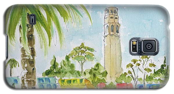 Galaxy S5 Case featuring the painting Coit Tower by Pat Katz
