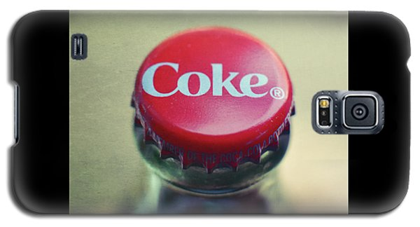 Galaxy S5 Case featuring the photograph Coke Bottle Cap Square by Terry DeLuco