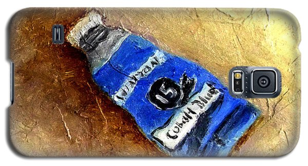 Galaxy S5 Case featuring the painting Colbalt Blue by Fred Wilson