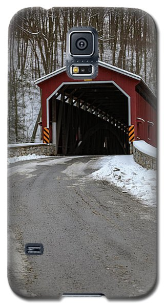 Colemansville Covered Bridge After Winter Snow Galaxy S5 Case