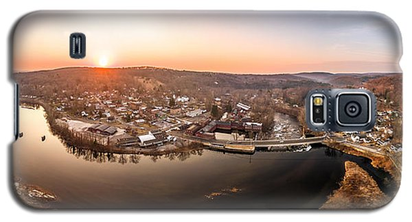 Colinsville, Connecticut Sunrise Panorama Galaxy S5 Case by Petr Hejl