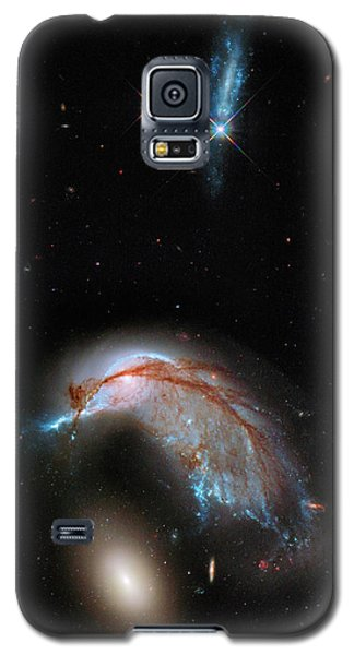 Galaxy S5 Case featuring the photograph Colliding Galaxy by Marco Oliveira