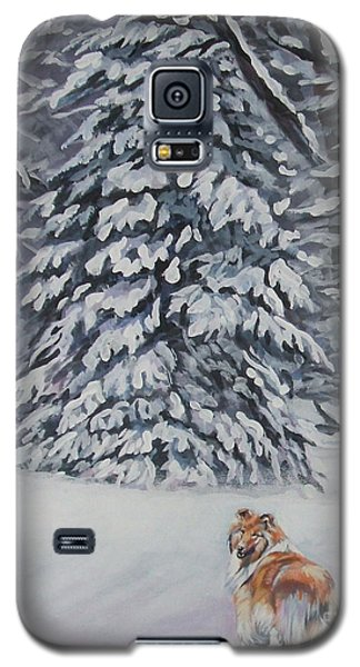 Collie Sable Christmas Tree Galaxy S5 Case