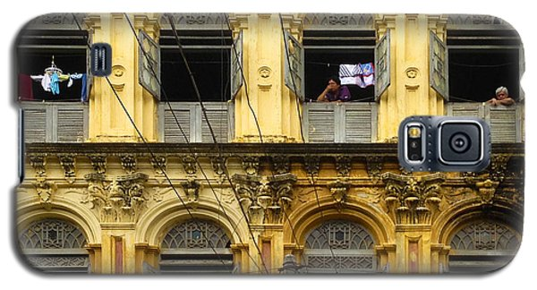 Colonial Facade Bo Soon Pat Street 8th Ward Central Yangon Burma Galaxy S5 Case by Ralph A  Ledergerber-Photography