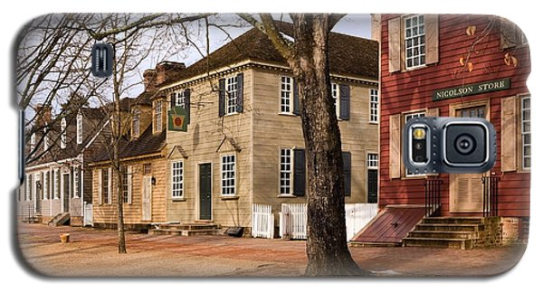 Colonial Street Scene Galaxy S5 Case by Sally Weigand
