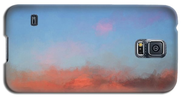 Color Abstraction Xlvii - Sunset Galaxy S5 Case by David Gordon