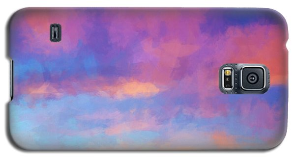 Color Abstraction Xlviii - Sunset Galaxy S5 Case by Dave Gordon