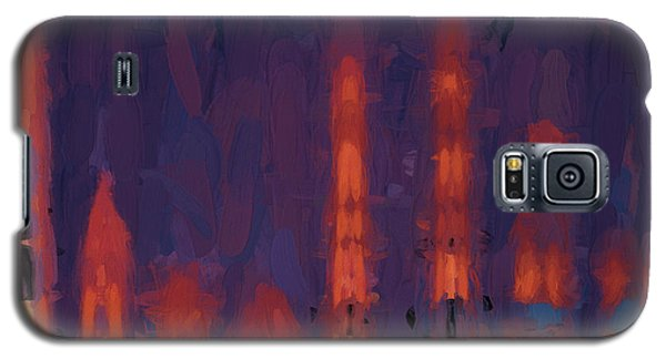 Galaxy S5 Case featuring the digital art Color Abstraction Xxxviii by Dave Gordon