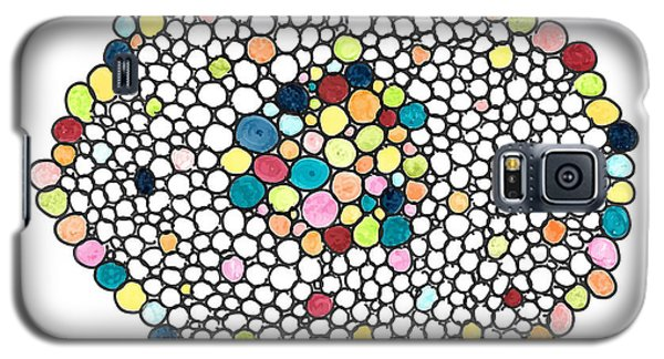 Galaxy S5 Case featuring the drawing Color Cells by Jill Lenzmeier
