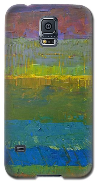 Galaxy S5 Case featuring the painting Color Collage Five by Michelle Calkins
