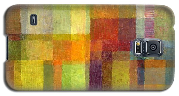 Color Collage With Green And Red 2.0 Galaxy S5 Case by Michelle Calkins