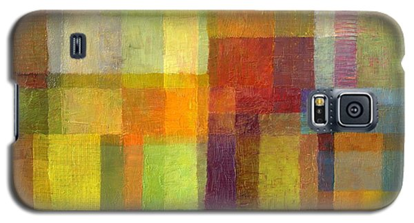Galaxy S5 Case featuring the painting Color Collage With Green And Red 2.0 by Michelle Calkins