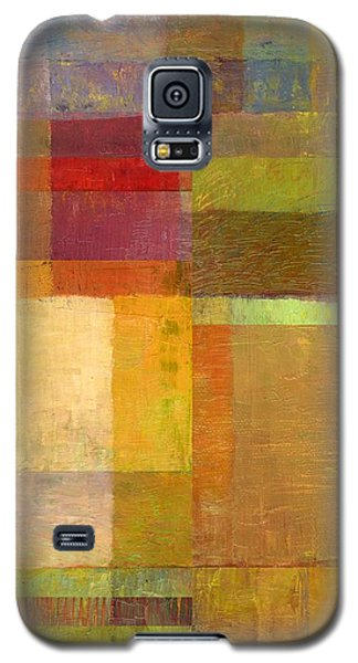 Galaxy S5 Case featuring the painting Color Collage With Green And Red by Michelle Calkins