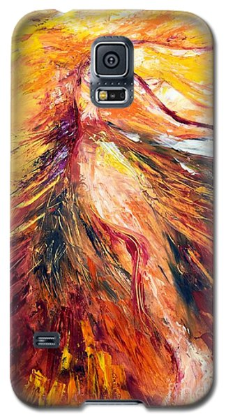 Galaxy S5 Case featuring the painting Color Dance by Marat Essex
