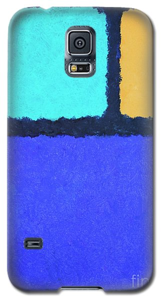 Galaxy S5 Case featuring the painting Color Fields by Jutta Maria Pusl