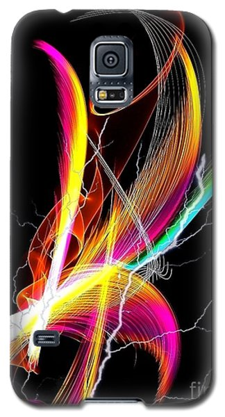 Galaxy S5 Case featuring the digital art Color Palm By Nico Bielow by Nico Bielow