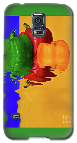 Galaxy S5 Case featuring the photograph Color Pop Peppers By Kaye Menner by Kaye Menner
