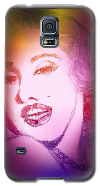 Color Rendition Of Marilyn Monroe #2 Galaxy S5 Case