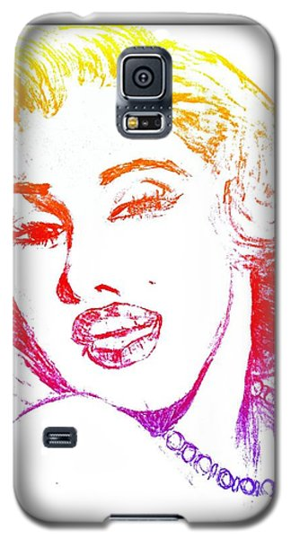 Color Rendition Of Marilyn Monroe Galaxy S5 Case