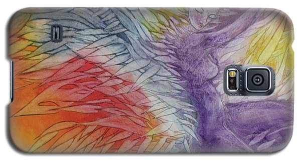 Galaxy S5 Case featuring the drawing Color Spirit by Marat Essex
