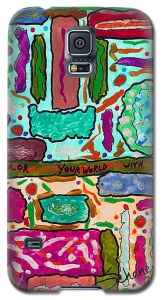 Color Your World With Love Galaxy S5 Case