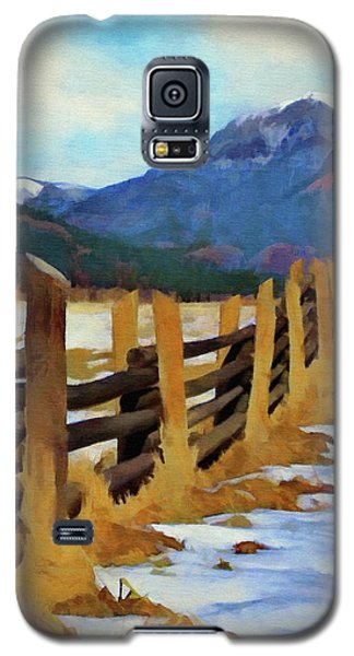 Galaxy S5 Case featuring the painting Colorado Fence Line  by Jeff Kolker