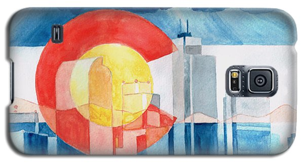 Galaxy S5 Case featuring the painting Colorado Flag by Andrew Gillette